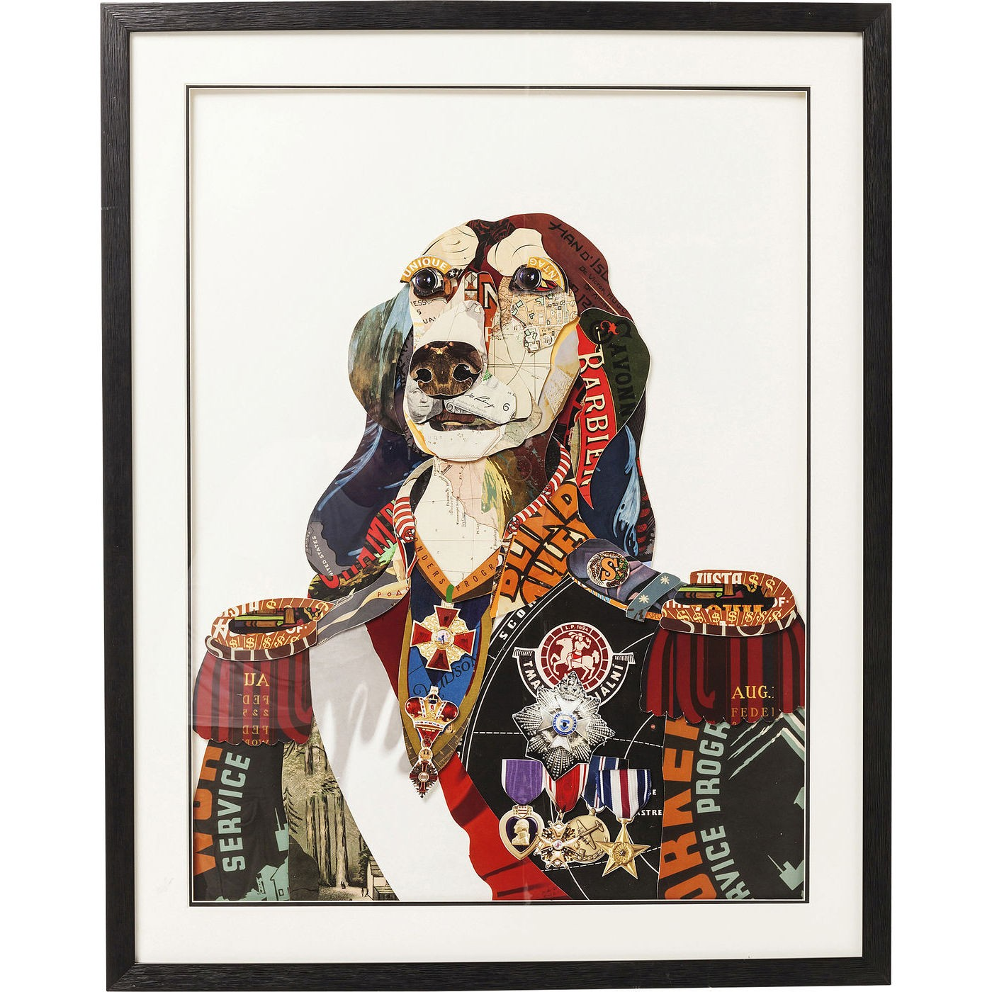 Image of   Billede Frame Art General Dog 90 x 72 cm