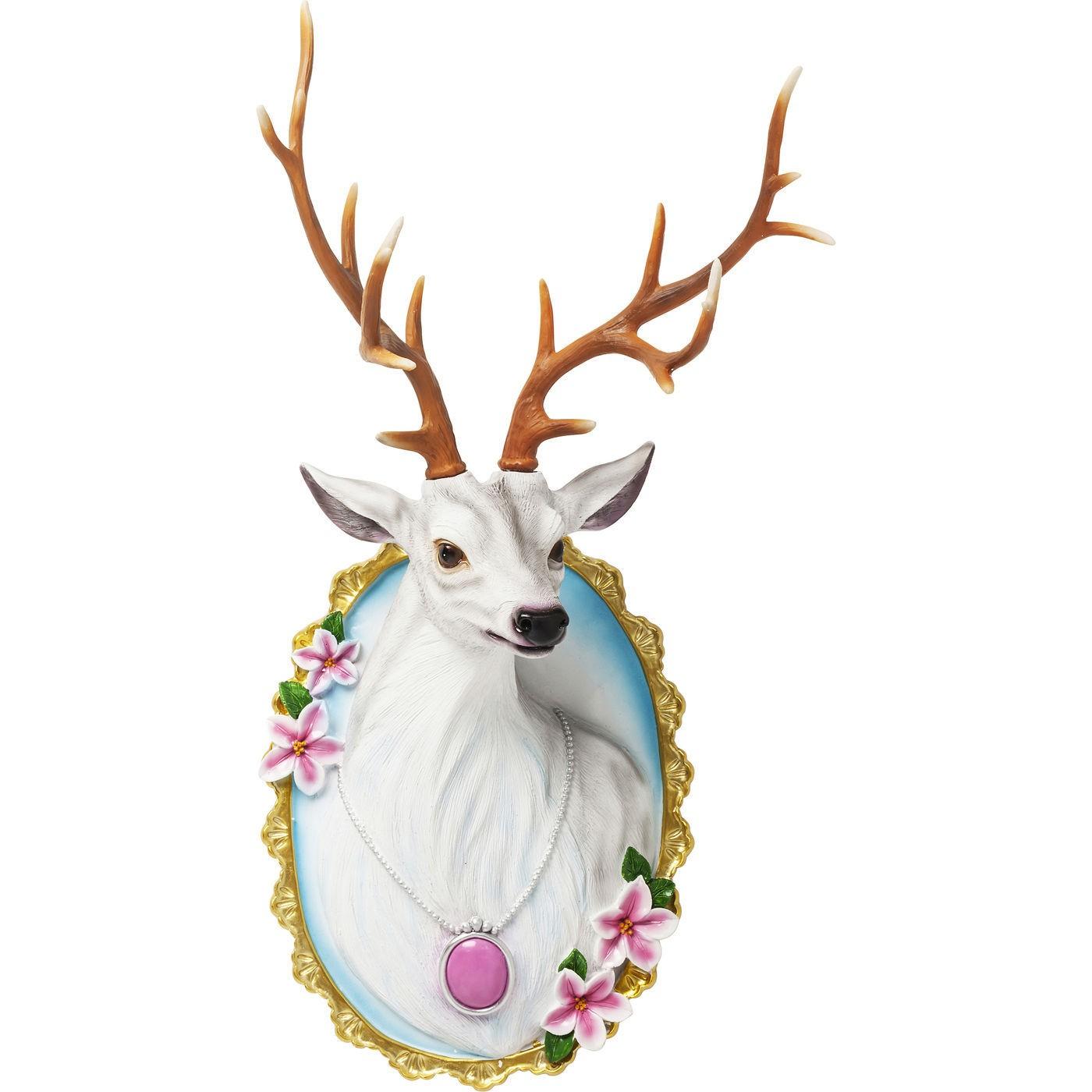 Billede af Vægdekoration Antler Deer Medallion