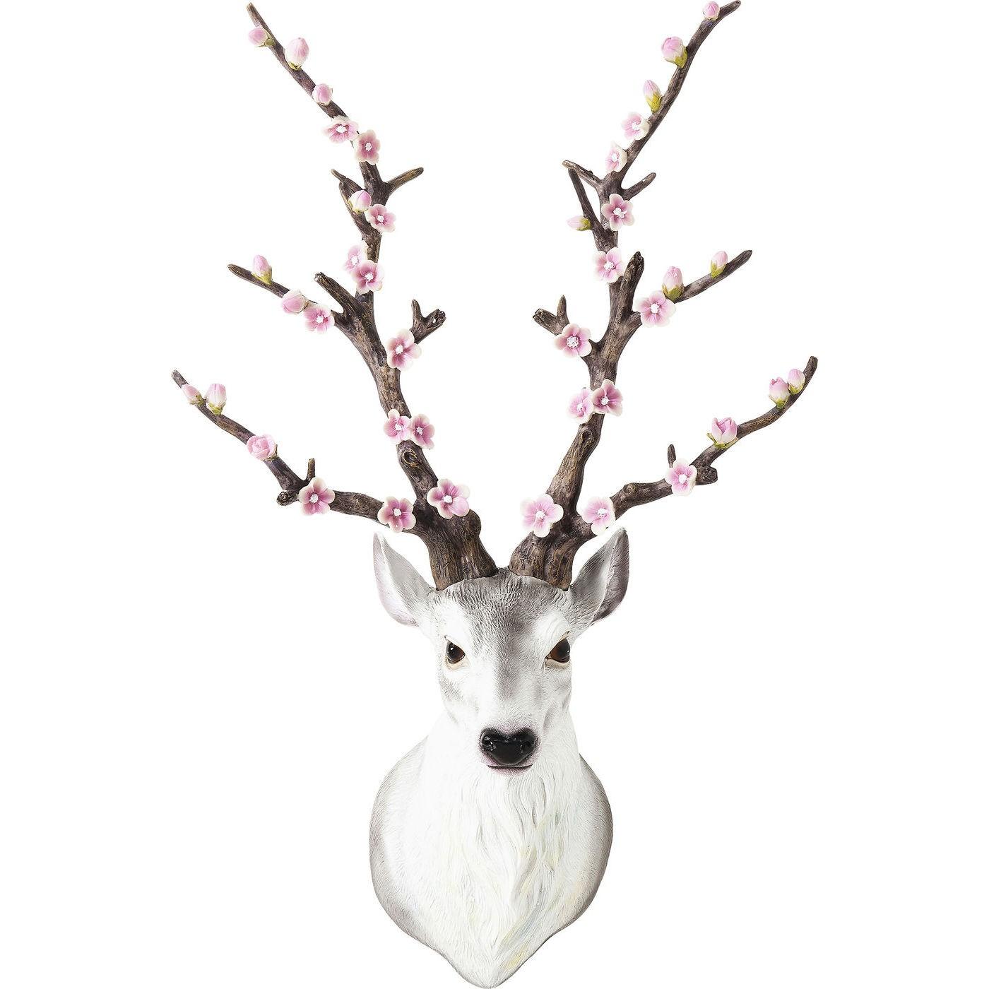 Image of   Vægskulptur Antler Deer Flores