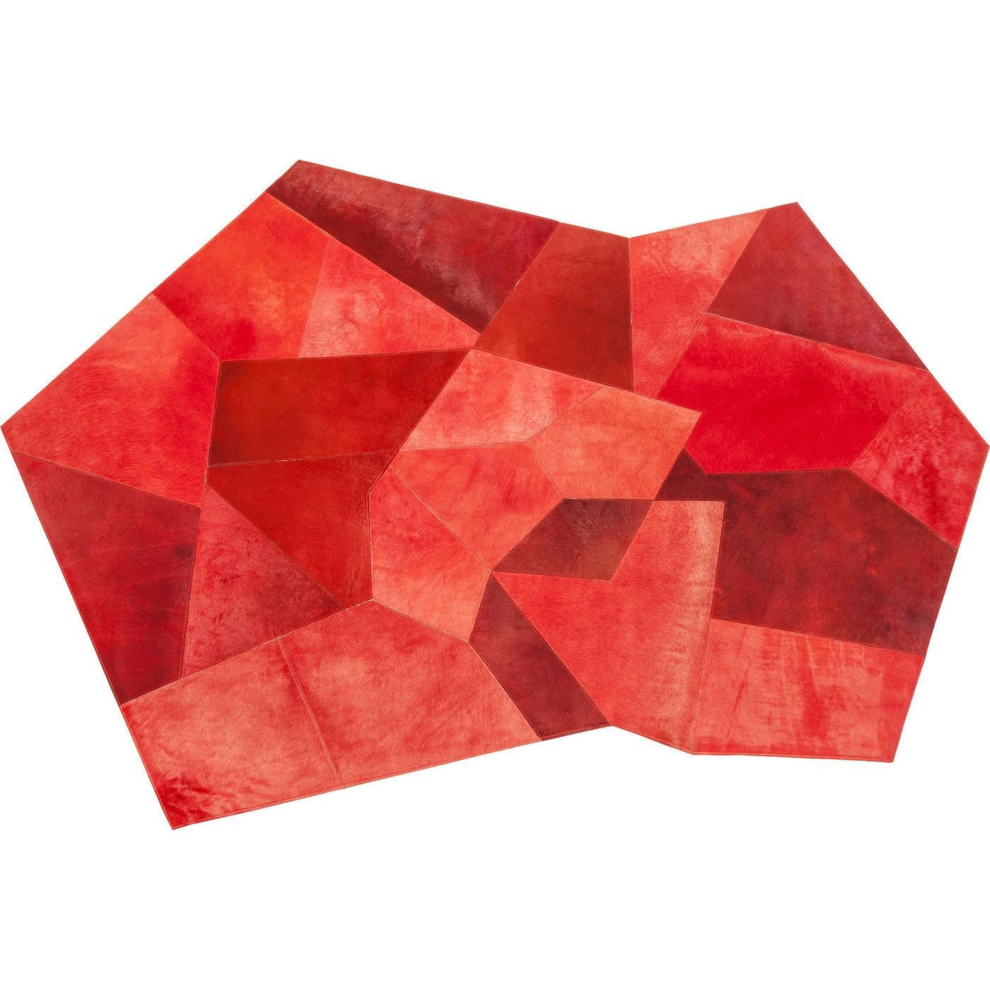 Billede af Tæppe Asymmetrisk Rød 240 x 170 cm