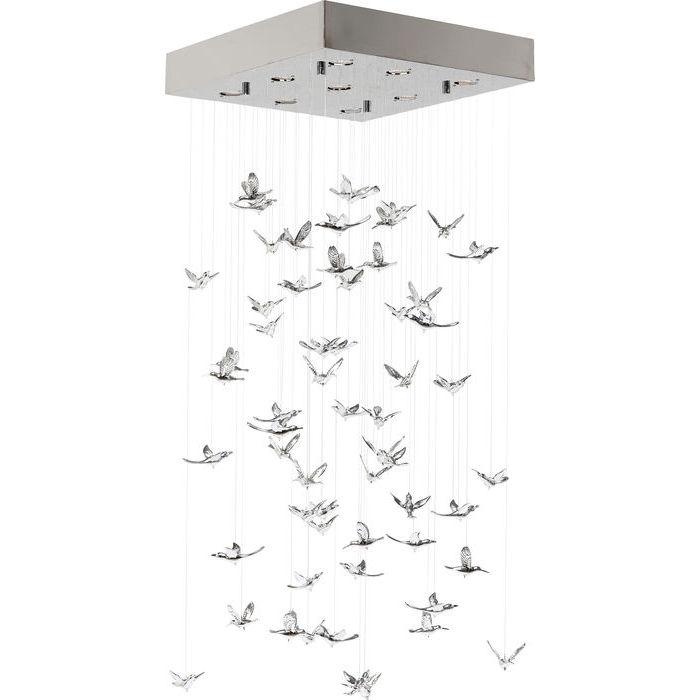 Loftslampe Flying Birds Krom