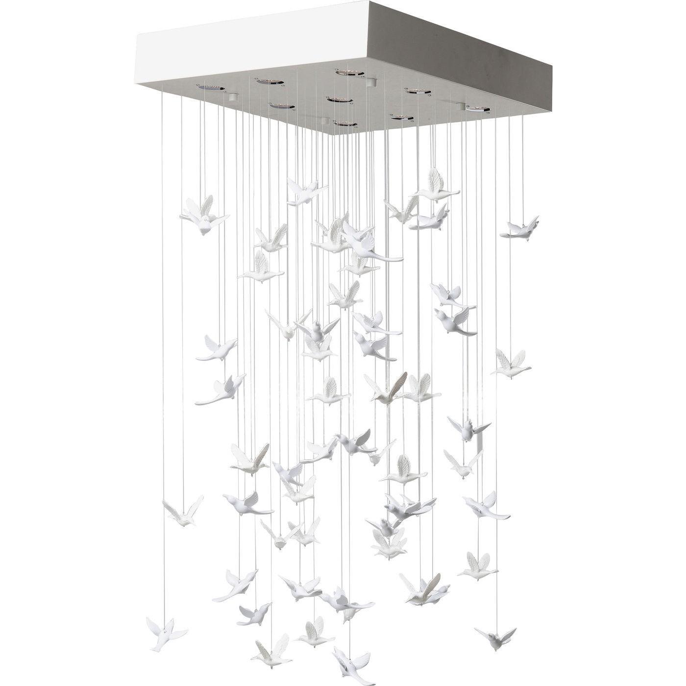 Loftlampe Flying Birds Hvid