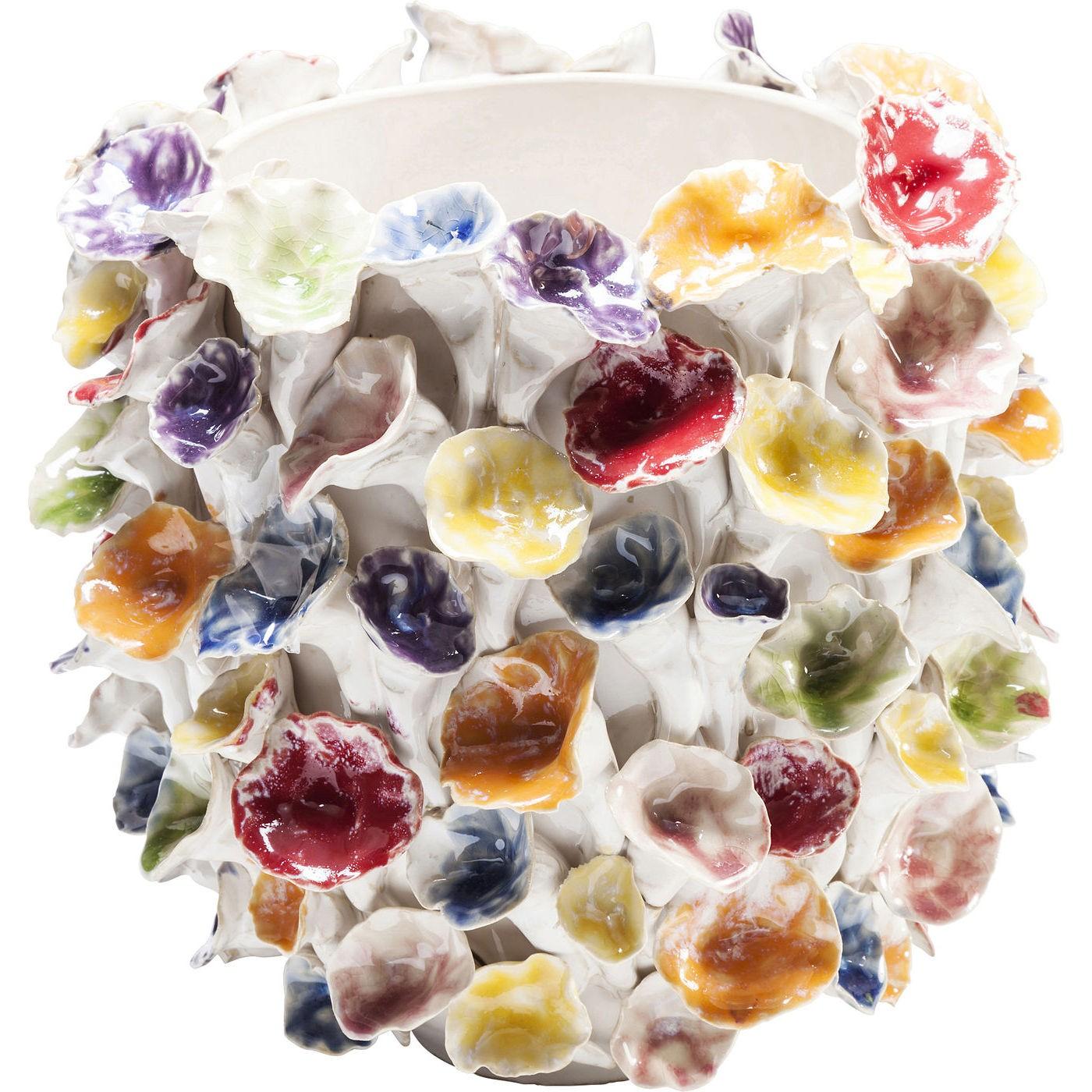 kare design – Kare design leaf colore vase -multifarvet stentøj (h 26,5) fra boboonline.dk
