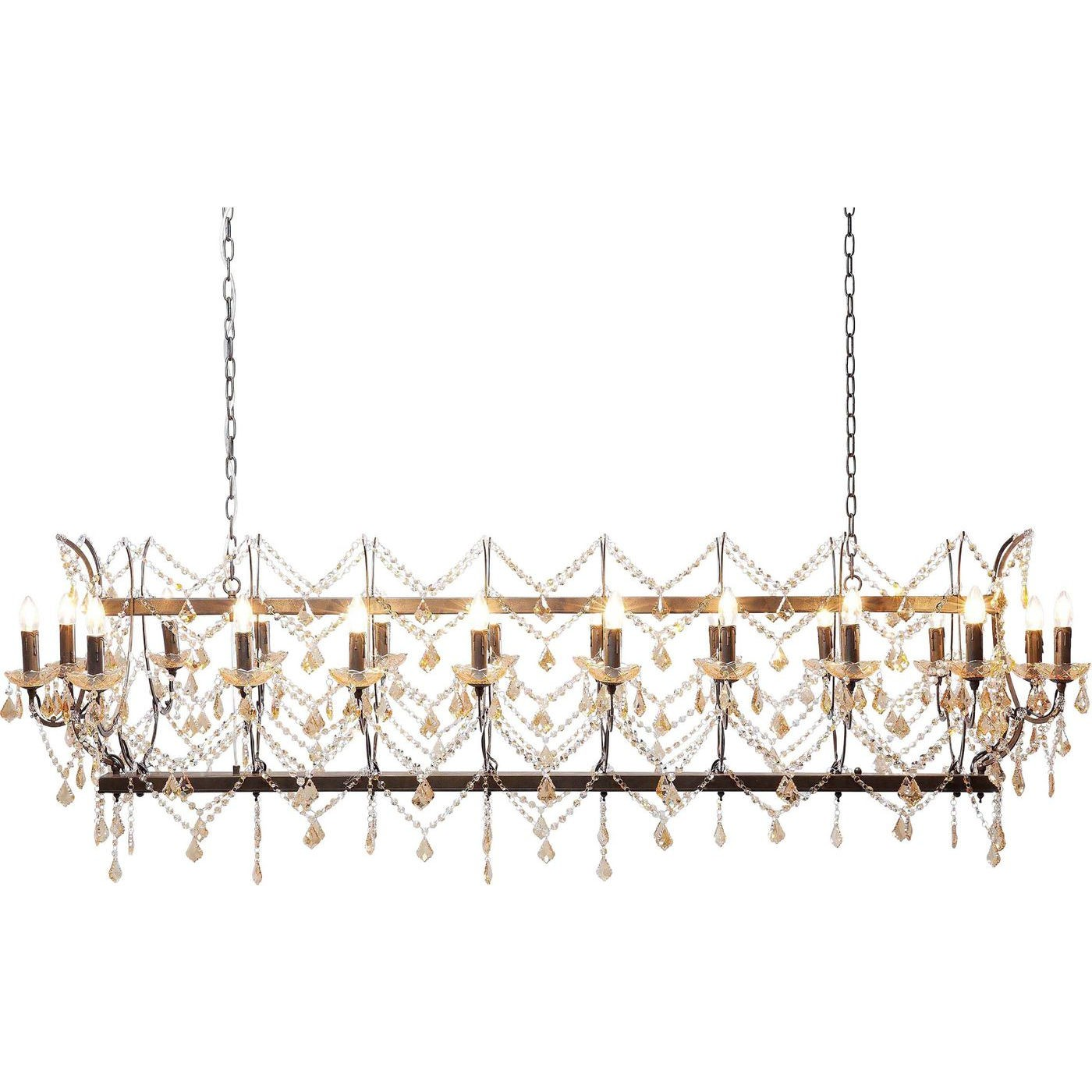 Loftslampe Chateau Crystal Rusty Deluxe