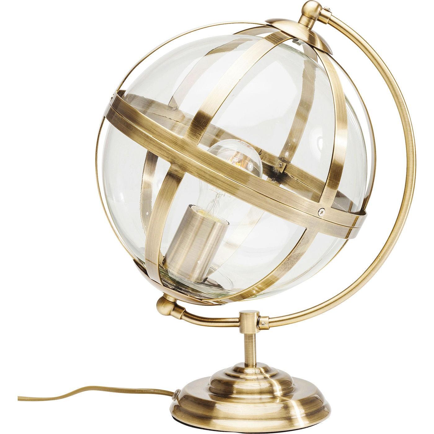 Billede af Bordlampe Globe Champagne