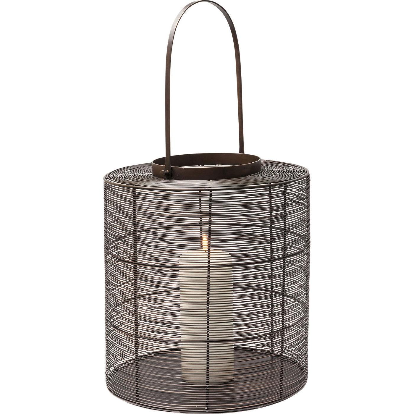 kare design – Kare design outlines lanterne - pulverlakeret stål, m. hank, rund (ø 44) fra boboonline.dk