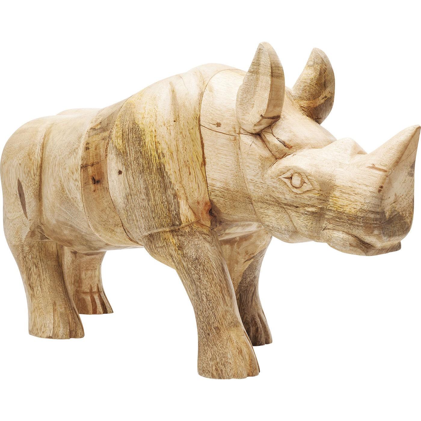 Billede af Dekoration Figur Rhino Træ