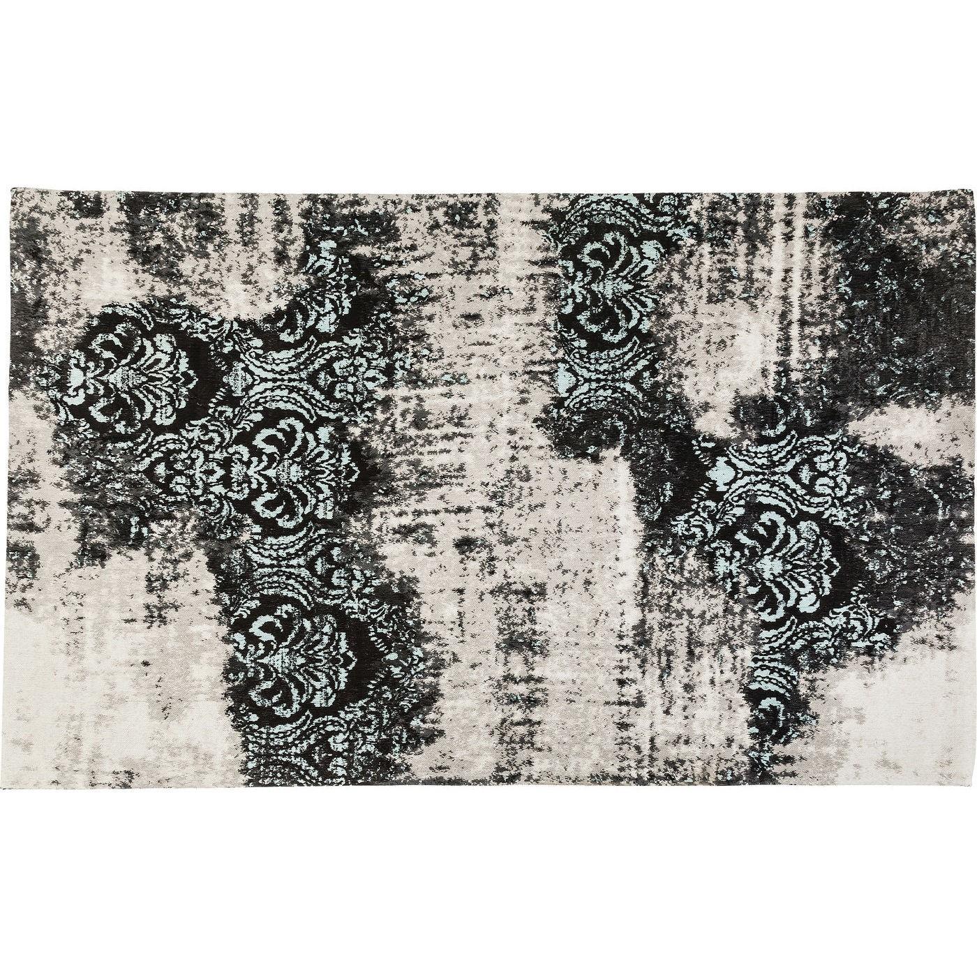 kare design Kare design kelim ornament gulvtæppe - turkis/sort/creme stof (300x200) fra boboonline.dk