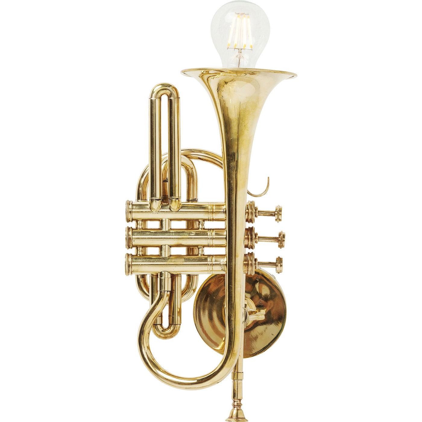 Image of   Væglampe Trumpet Jazz Gold
