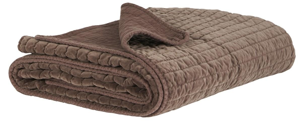 Image of   IB LAURSEN Quilt sengetæppe - Chokoladefarvet velour