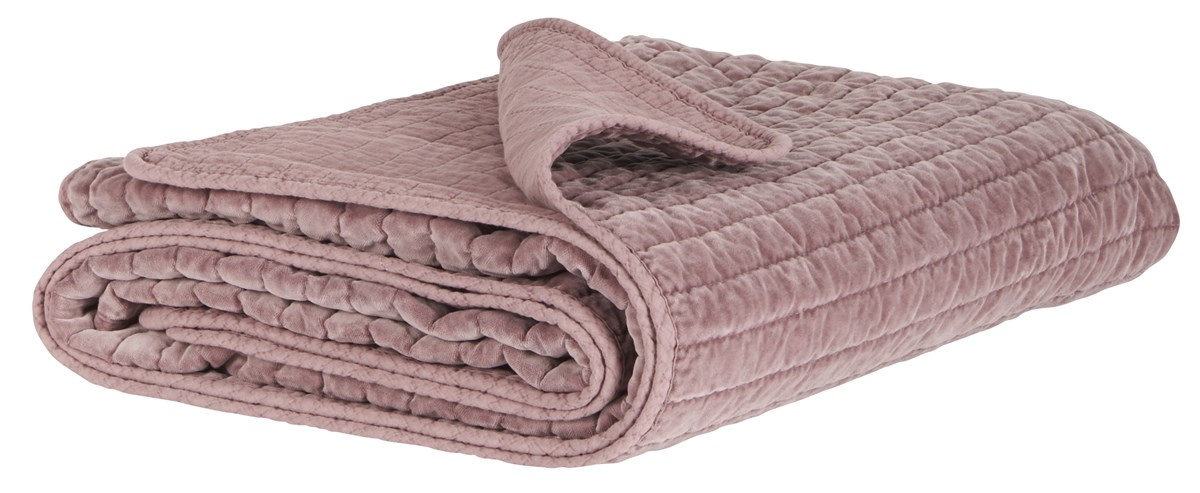 IB LAURSEN Quilt sengetæppe - Malvafarvet velour