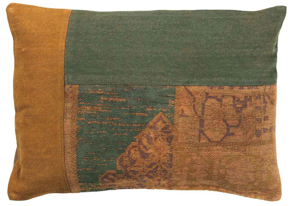 IB LAURSEN Pudebetræk - rustik brun og grøn