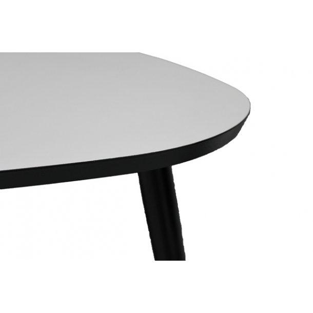 Hvidt sofabord med sorte ben - Køb et stort Dråben sofabord online