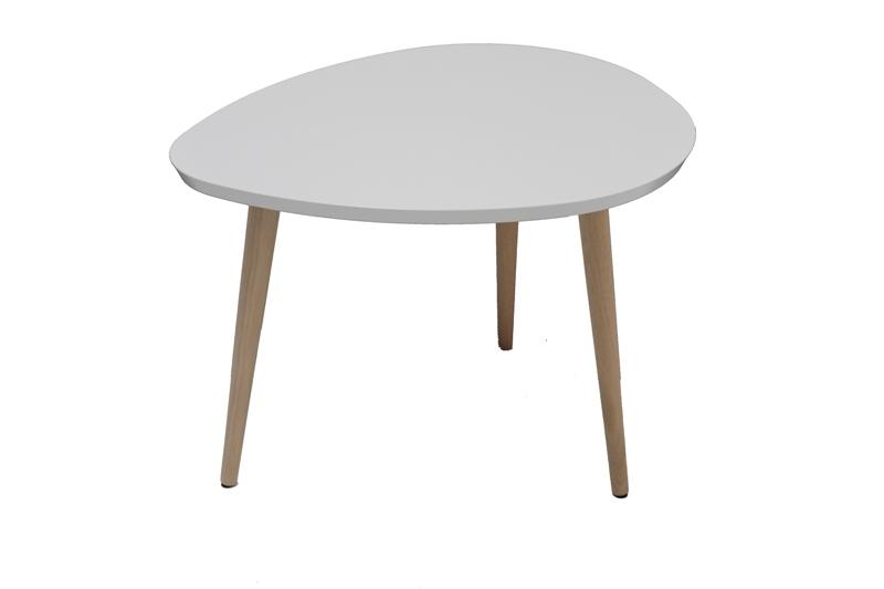 Pæren sofabord - hvidt/natur træ, lille