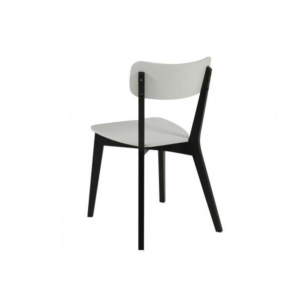 Raven spisebordsstol - hvid/sort