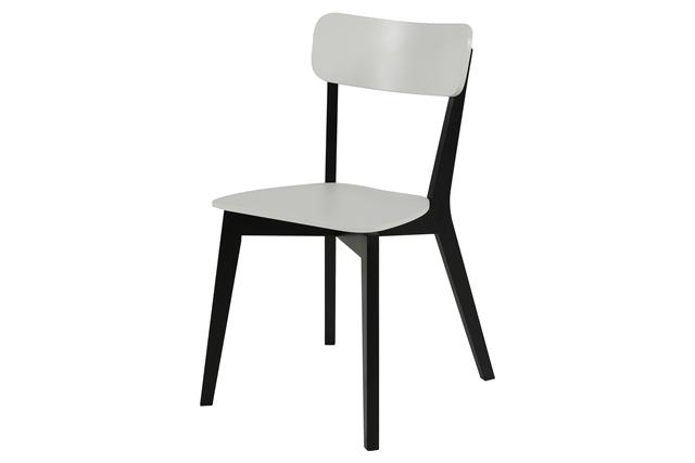 Raven spisebordsstol - hvidt/sort træ
