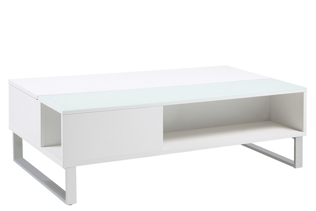 Image of   Azalea sofabord - hvid højglans