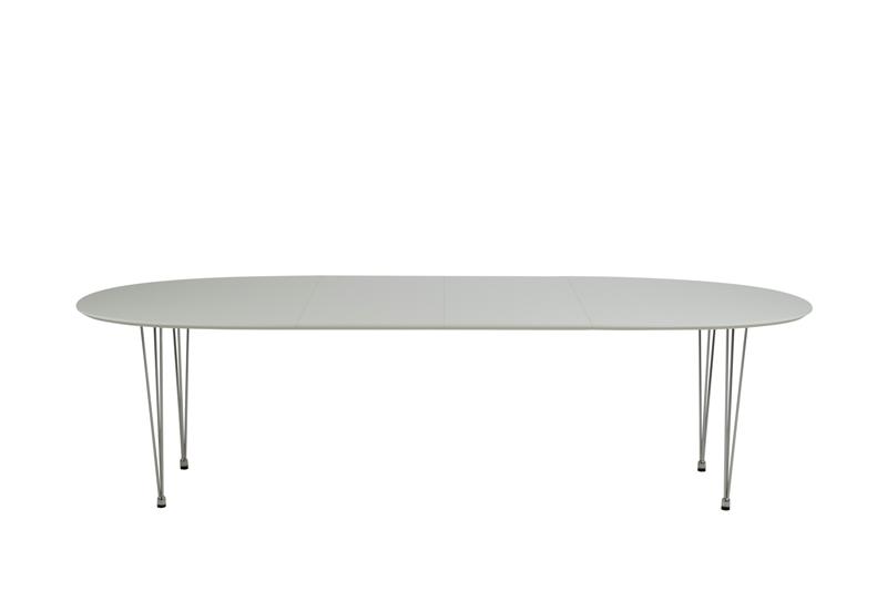 Meget Ovalt spisebord i laminat. Køb Carina spisebord i hvid højtrykslaminat IE86