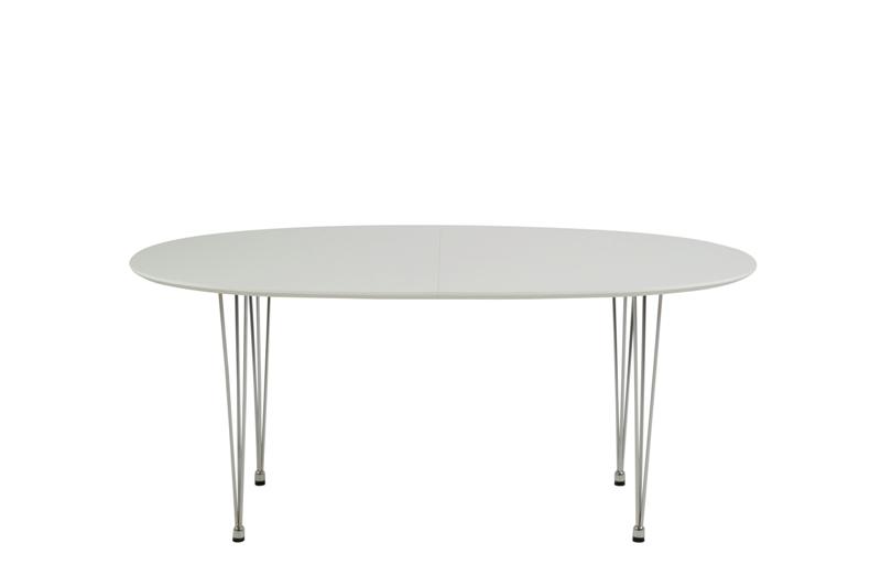 Image of   Carina spisebord - hvid oval, incl. 2 tillægsplader (170x100)