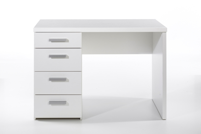 Siste Hvid Function Plus skrivebord med 4 skuffer. Køb hvid skrivebord PM-41