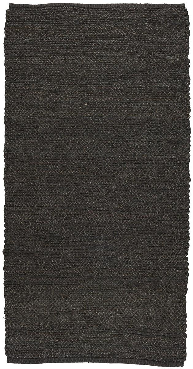 Billede af Ib Laursen Gulvtæppe sort jute