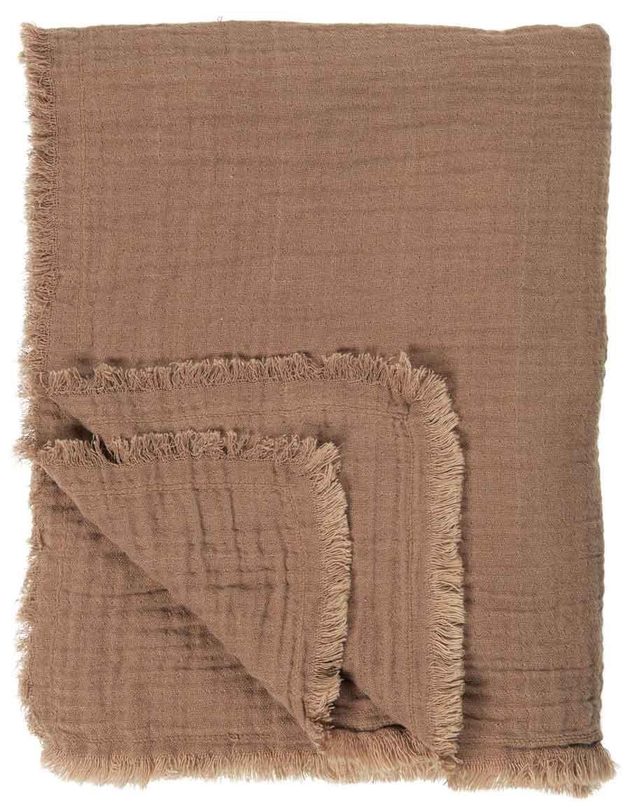 Billede af IB LAURSEN Dobbeltvævet plaid - brun bomuld