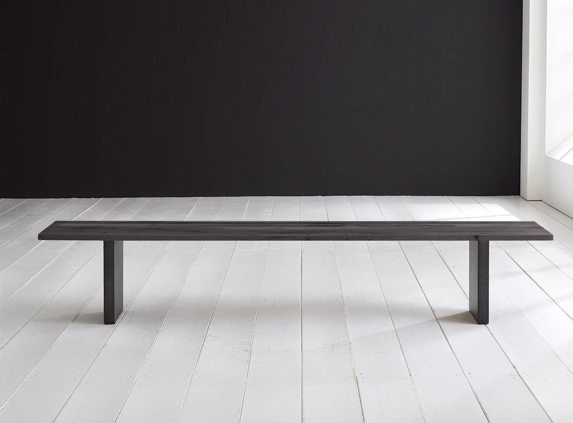 bodahl Bodahl concept 4 you spisebordsbænk - massiv egetræ m. t-ben 200 x 40 cm 3 cm 07 = mocca black fra boboonline.dk