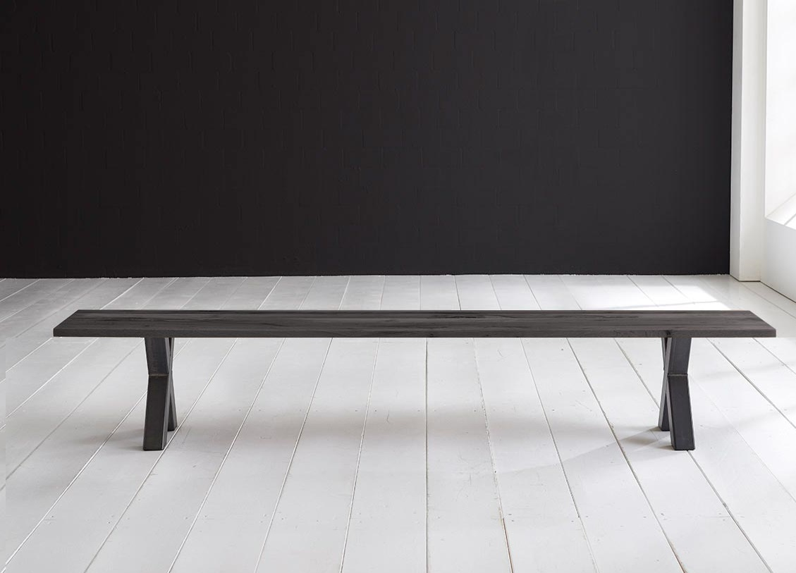 Concept 4 You Spisebordsbænk - Freja ben 200 x 40 cm 3 cm 07 = mocca black