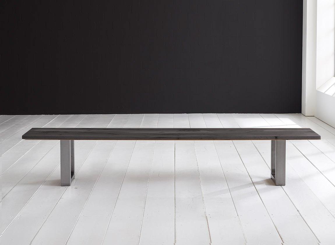 bodahl Bodahl concept 4 you spisebordsbænk - massiv egetræ m. mahattan ben 200 x 40 cm 3 cm 07 = mocca black fra boboonline.dk