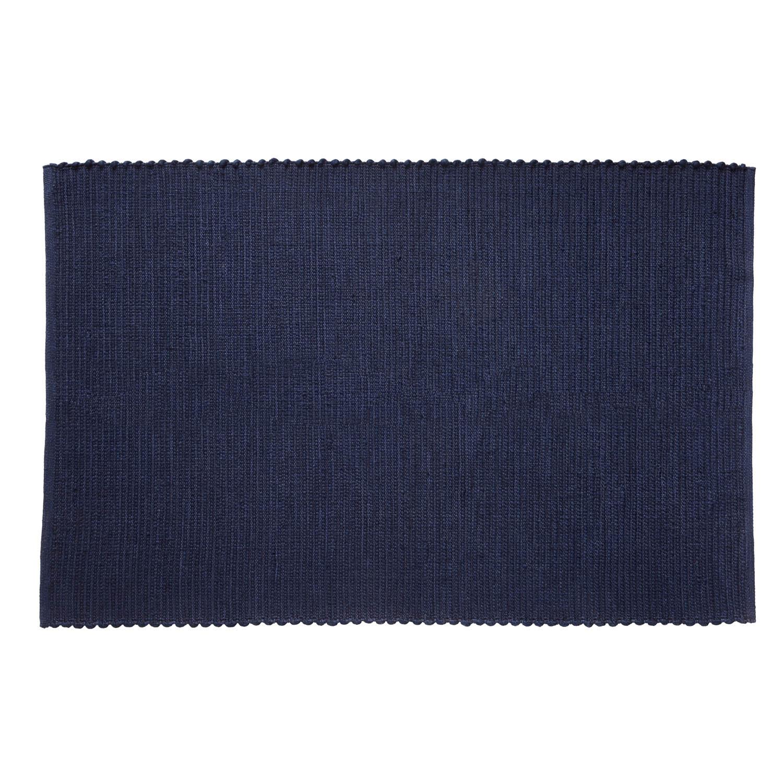 hübsch – H?bsch gulvtæppe - blå vævet garn (120x180) på boboonline.dk
