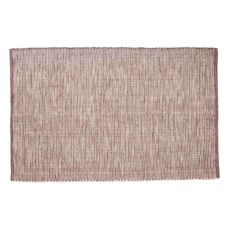 hübsch H?bsch gulvtæppe - bordeauxrød/hvid vævet garn (120x180) fra boboonline.dk