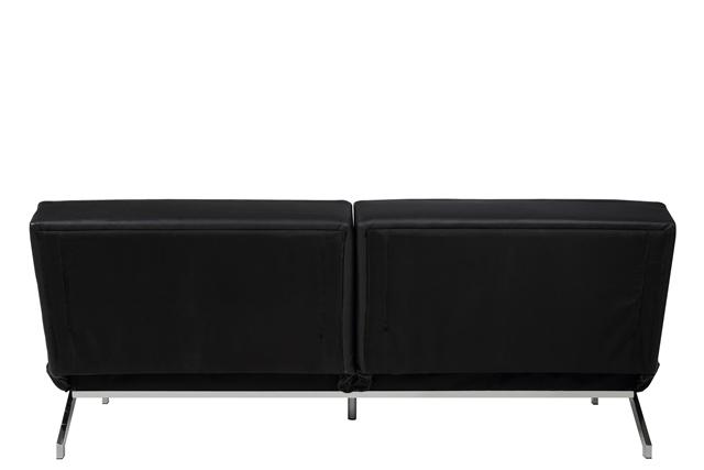 Perugia sovesofa - sort læder PU