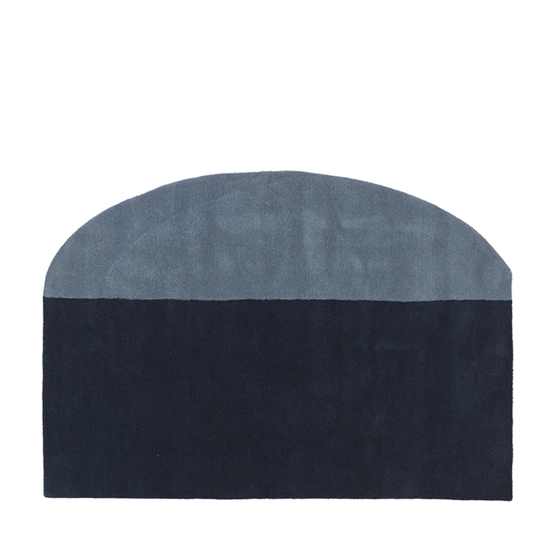 broste copenhagen spectre gulvtæppe - blå uld, (200x140) fra broste copenhagen