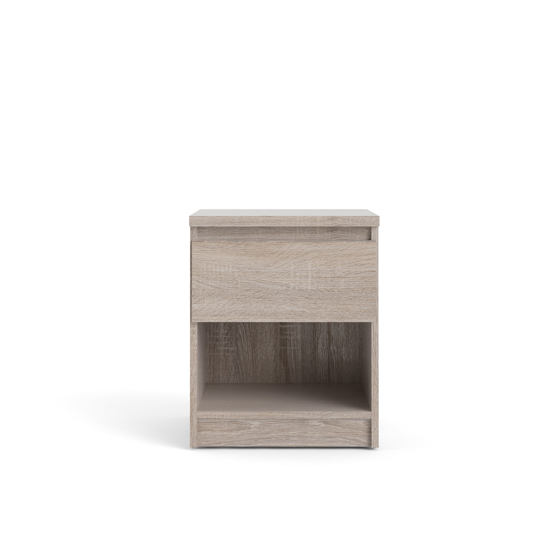 Naia natbord - trøffelfarvet træ m. 1 skuffe