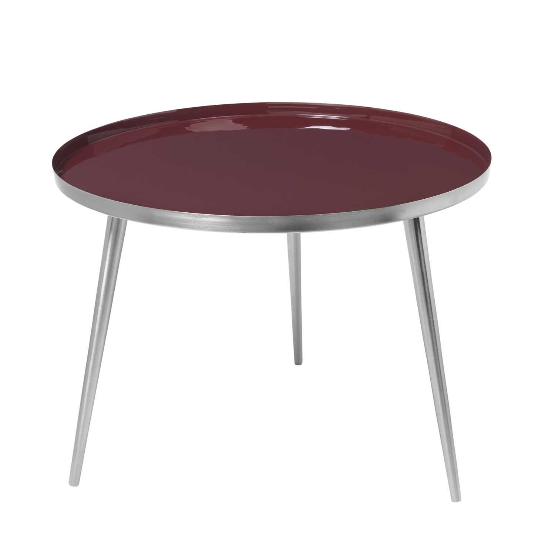 Køb BROSTE COPENHAGEN Jelva sofabord – sølv stål og aluminium, rund (Ø57)