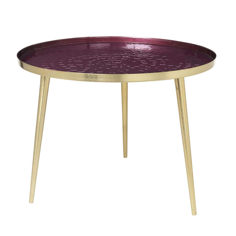Køb BROSTE COPENHAGEN Jelva sofabord – aluminium og guld stål, rund (Ø57)