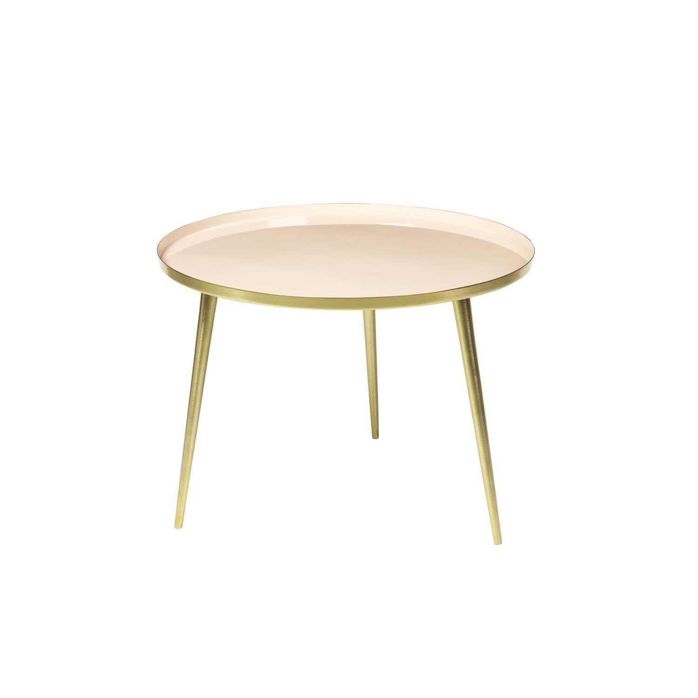 Køb BROSTE COPENHAGEN Jelva sofabord – guld stål og aluminium, rund (Ø57)