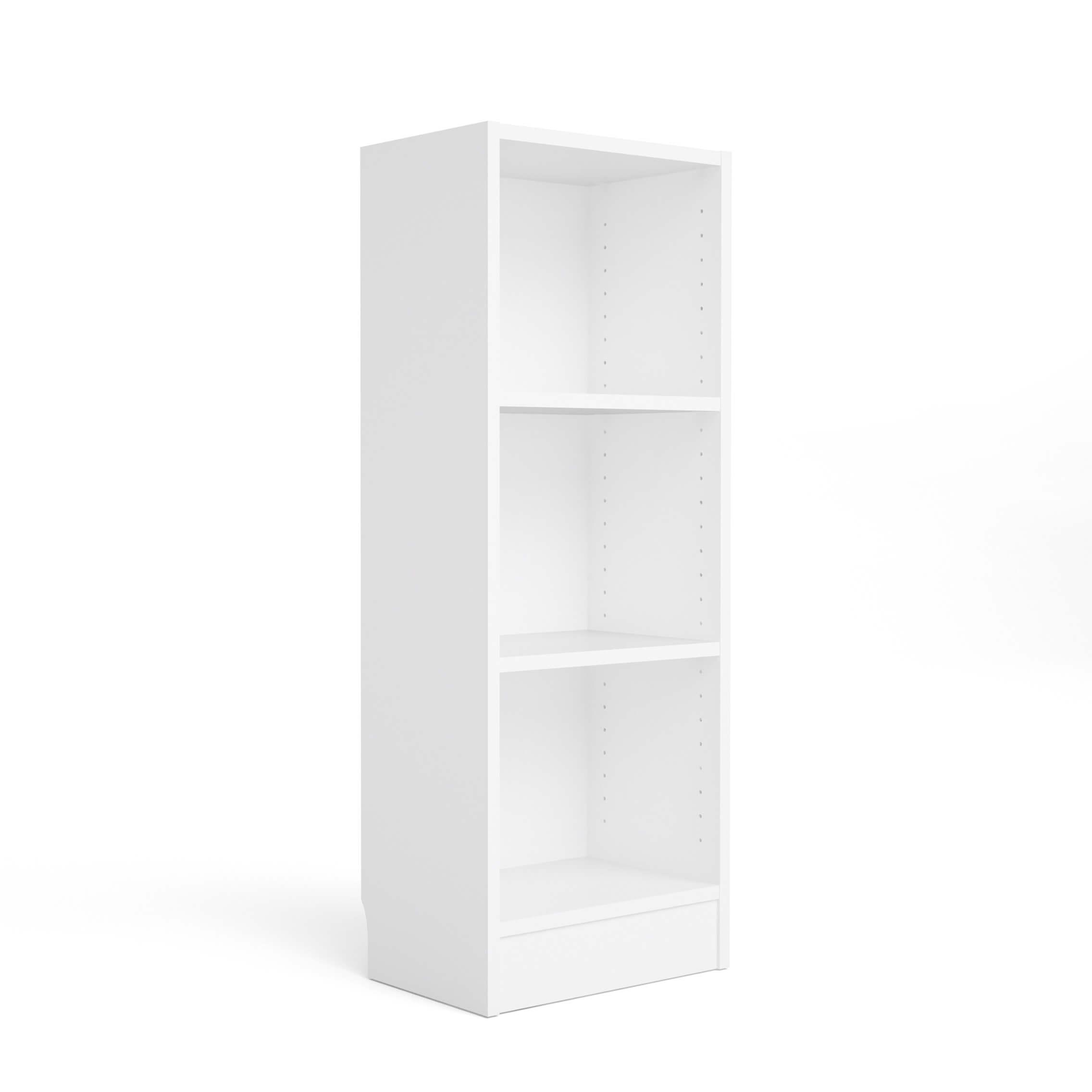 Basic bogkasse - hvid, m. 2 hylder