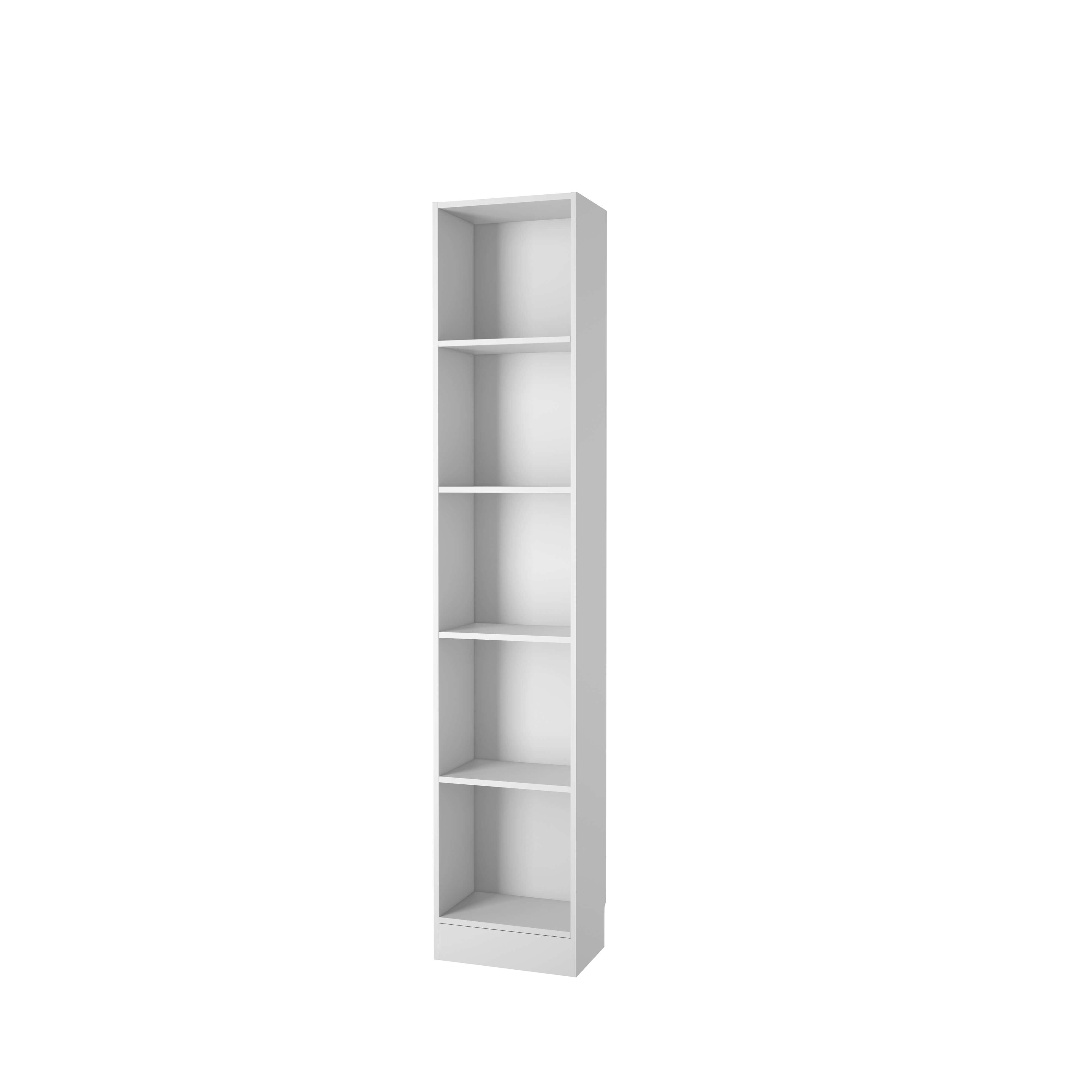 Basic bogkasse - hvid, m. 4 hylder