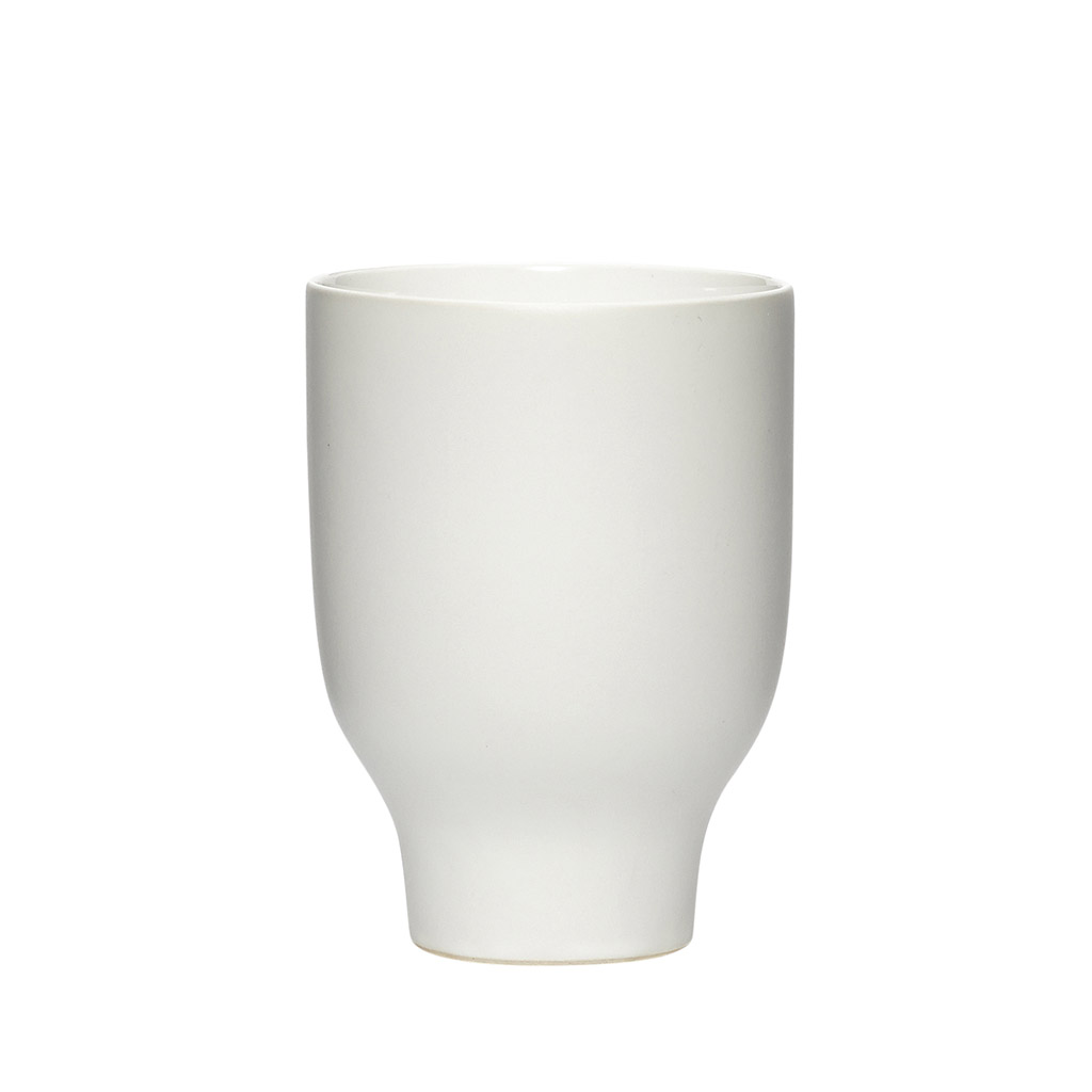 hübsch H?bsch krus - hvid porcelæn, høj (ø 9) fra boboonline.dk