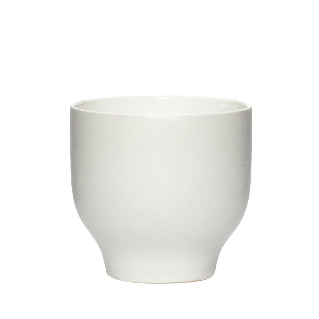 hübsch H?bsch krus - hvid porcelæn, lav (ø 9) på boboonline.dk