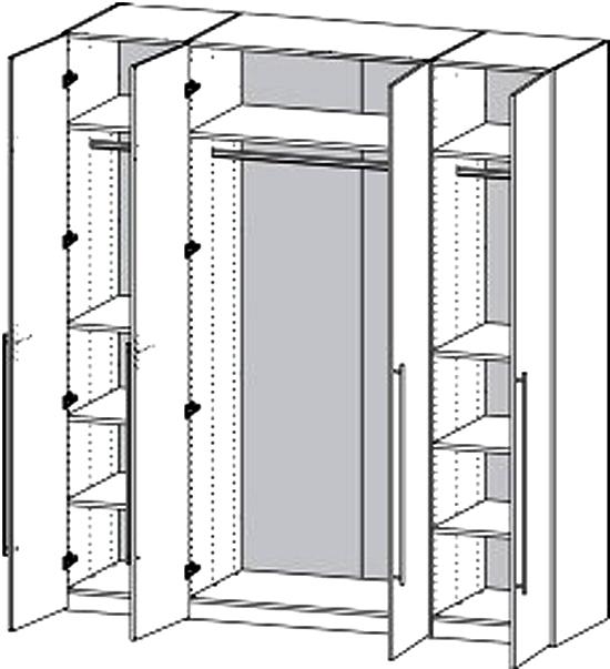 Fantastisk 4 dørs garderobeskab - Save fra Danske Tvilum. Køb nu. KE44
