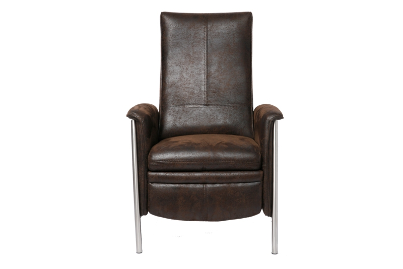 KARE DESIGN Lazy reclinerstol – brun velour, metalstel