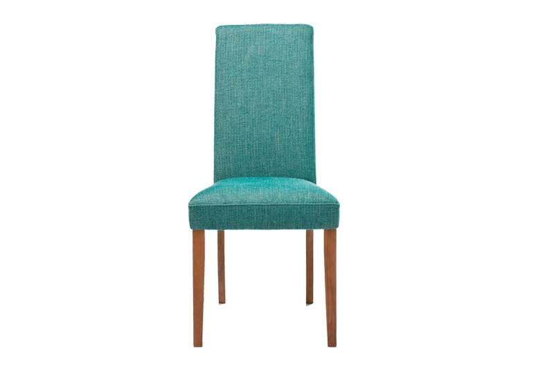 Kare design econo spisebordsstol - grøn stof m. træben fra kare design på boboonline.dk