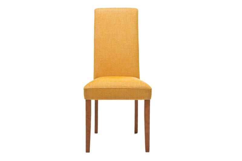 Kare design econo spisebordsstol - sennepsgult stof m. træben fra kare design på boboonline.dk