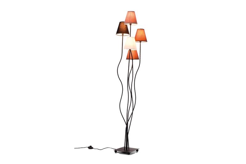 Kare design mocca gulvlampe - brun/grå/hvid uld og stål fra kare design fra boboonline.dk