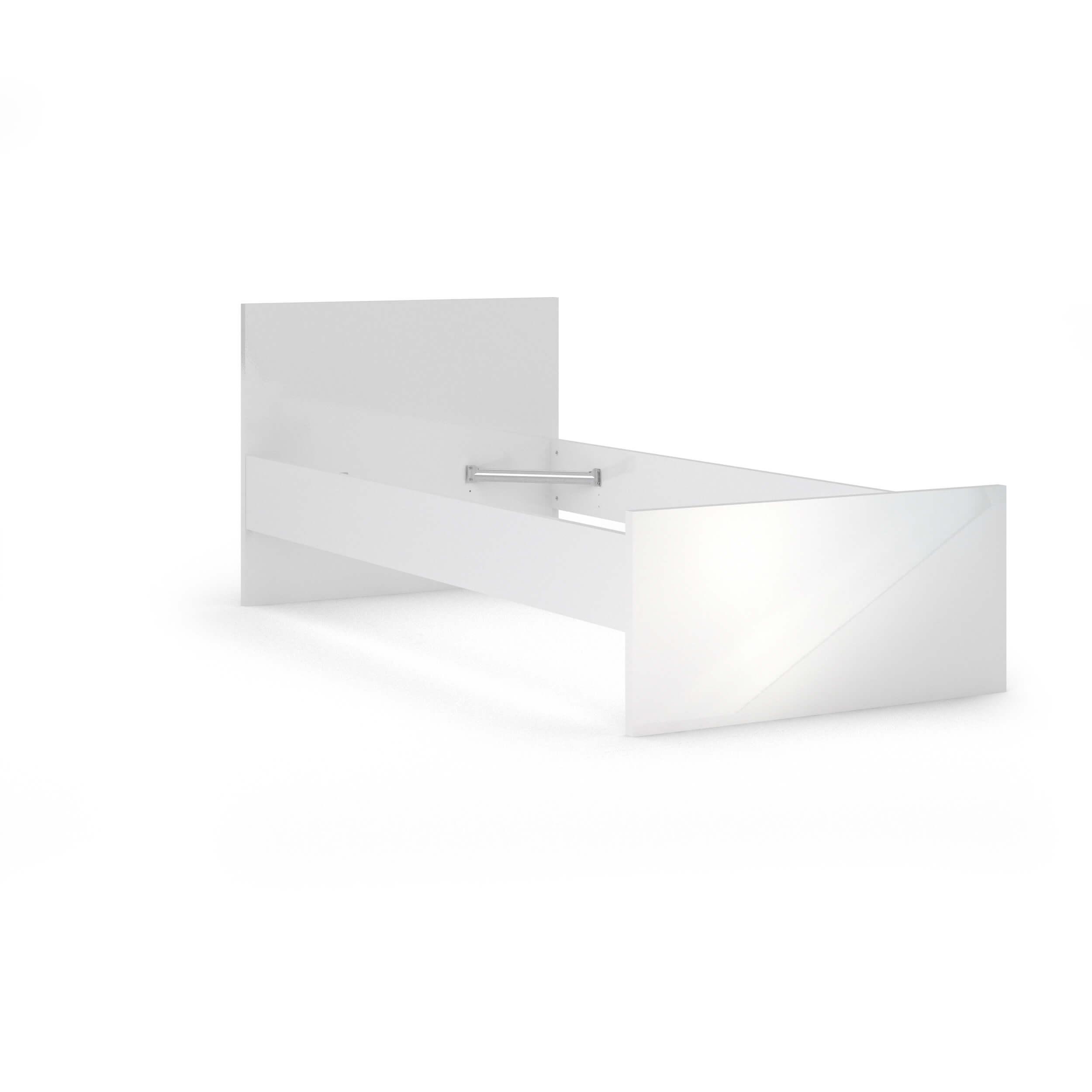 Naia Sengeramme - Hvid Højglans (90X190) Soveværelse