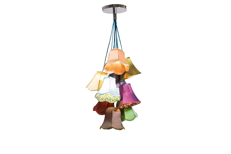 Kare Design Saloon Flowers Loftlampe - Multifarvet Stof Belysning