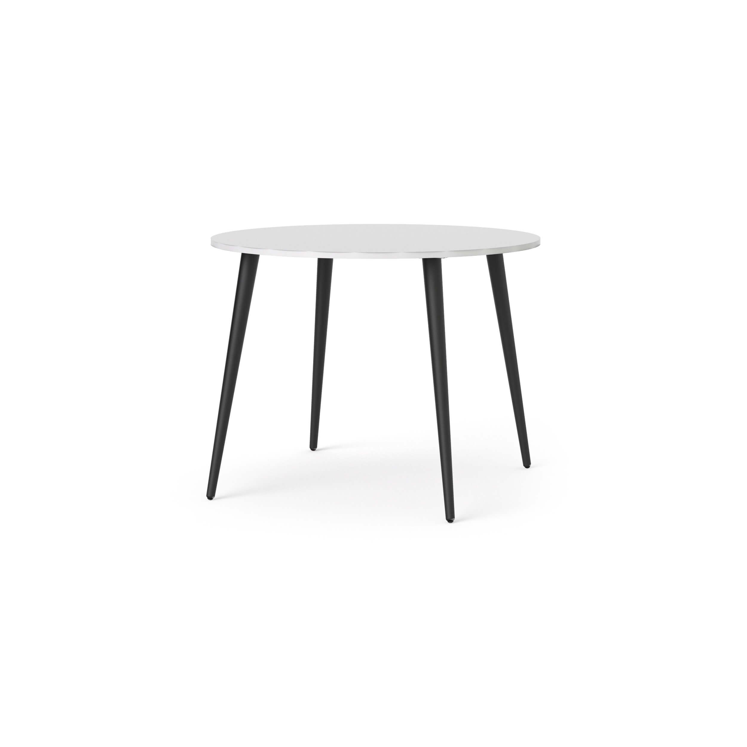 Delta spisebord - hvid/sort, rund (Ø100)