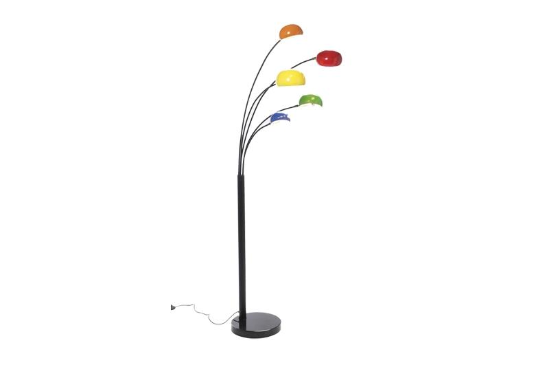 KARE DESIGN Five fingers gulvlampe - multifarvet stål, m. marmor fod, 5 lamper